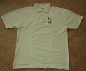 creme-beige-Polo-Hemd-FRUIT-of-the-LOOM-L-XL-Kurzarm-Polo-Shirt-pique-Formentera