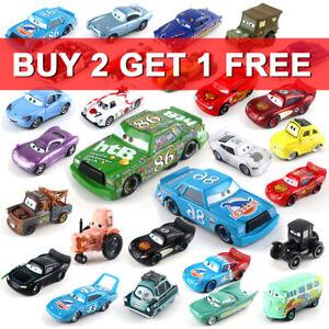 Disney Pixar Cars Lot McQueen Lightning 1:55 Diecast Model Car Toys Gift