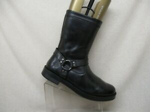 Harley-Davidson-Black-Leather-Harness-Motorcycle-Riding-Boots-Size-12-D-93248