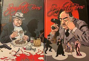 Spaghetti-Bros-Hardcover-Lot-2-Volumes-European-Crime-Comic-Trillo-IDW-OOP