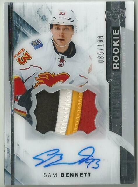 15-16 UD Premier Collection Sam Bennett Rookie Auto/Patch RPA RC SP /199