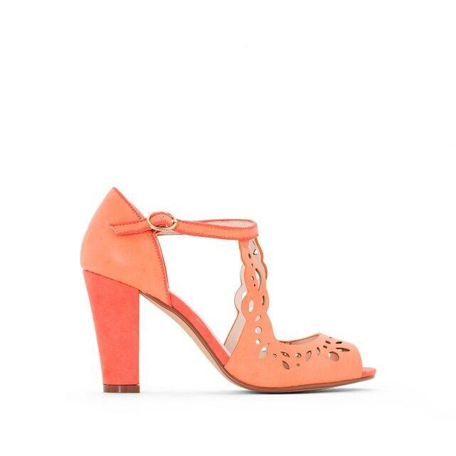 MADEMOISELLE R High Heeled Perforated Sandals UK 2.5 EU 35 LN21 23 SALEs