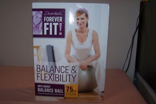 """Anti-Burst Balance /& Flexibility Ball 75cm 5/'11/"""" /& Up Denise Austin Forever Fit"""