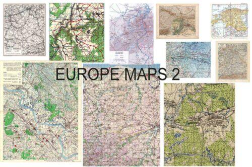 GM635 DID ww2 BIG maps 5 pcs 1//6 3R GM633