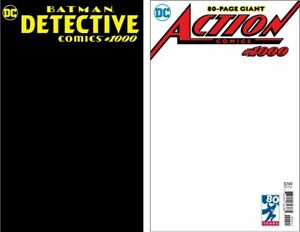 Detective-BLACK-Action-Comics-WHITE-BLANK-1000-RARE-SKETCH-COVER-VARIANTS