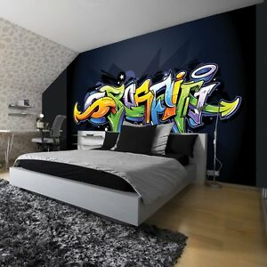 fototapeten fototapete tapeten tapete wandbild foto freestyle graffiti 1509 p4 ebay. Black Bedroom Furniture Sets. Home Design Ideas