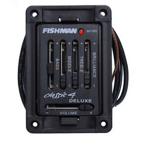 4 band acoustic guitar fishman classic 4 deluxe acoustic guitar preamp pickups ebay. Black Bedroom Furniture Sets. Home Design Ideas
