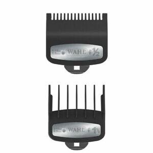 Wahl-Premium-Clipper-Cutting-Guides-Guards-Metal-Clip-2pc-Set-1-2-amp-1-1-2