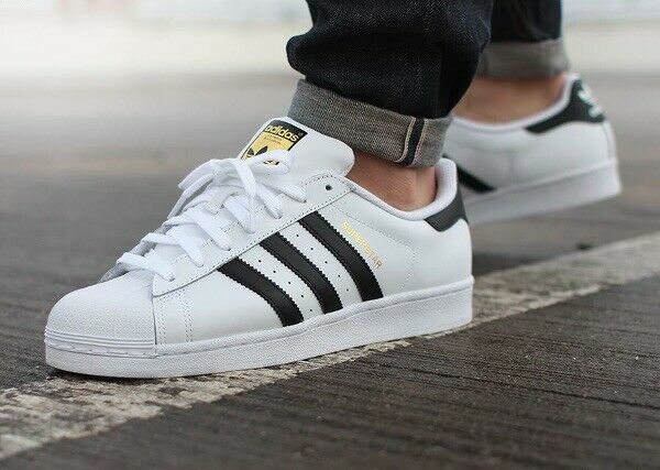 Adidas Originals Superstar Size 12 Men's White Black gold Sneakers shoes