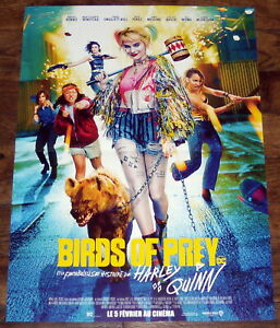 Birds Of Prey Margot Robbie Is Harley Quinn Dc Comics Small French Poster Ebay