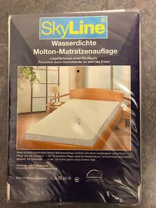 SKYLINE-Wasserdichte-Molton-Matratzenauflage-Groesse-100-200-NEU-OVP