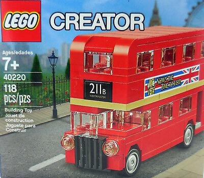 Mini-Build NEW SEALED 40220 118 pieces Free Ship.!! Lego Creator London Bus