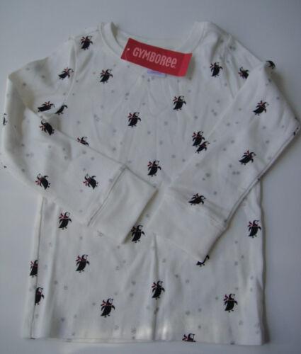 Gymboree NWT PENGUIN CHALET Snowflake Tee Top Shirt Long Sleeve 4 4T