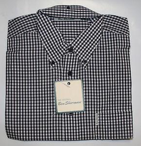 Ben-Sherman-langarm-Button-Down-Hemd-regular-fit-weit-geschnitten-kariert