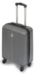 Koffer-ABS-Hartschale-Trolley-Reisekoffer-4-Rollen-360-Gr-L-65-Liter-26-034-Grau