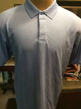 E.V Run Golf Blue Striped Cotton Blend Mens Polo Shirt XL EUC Q-624