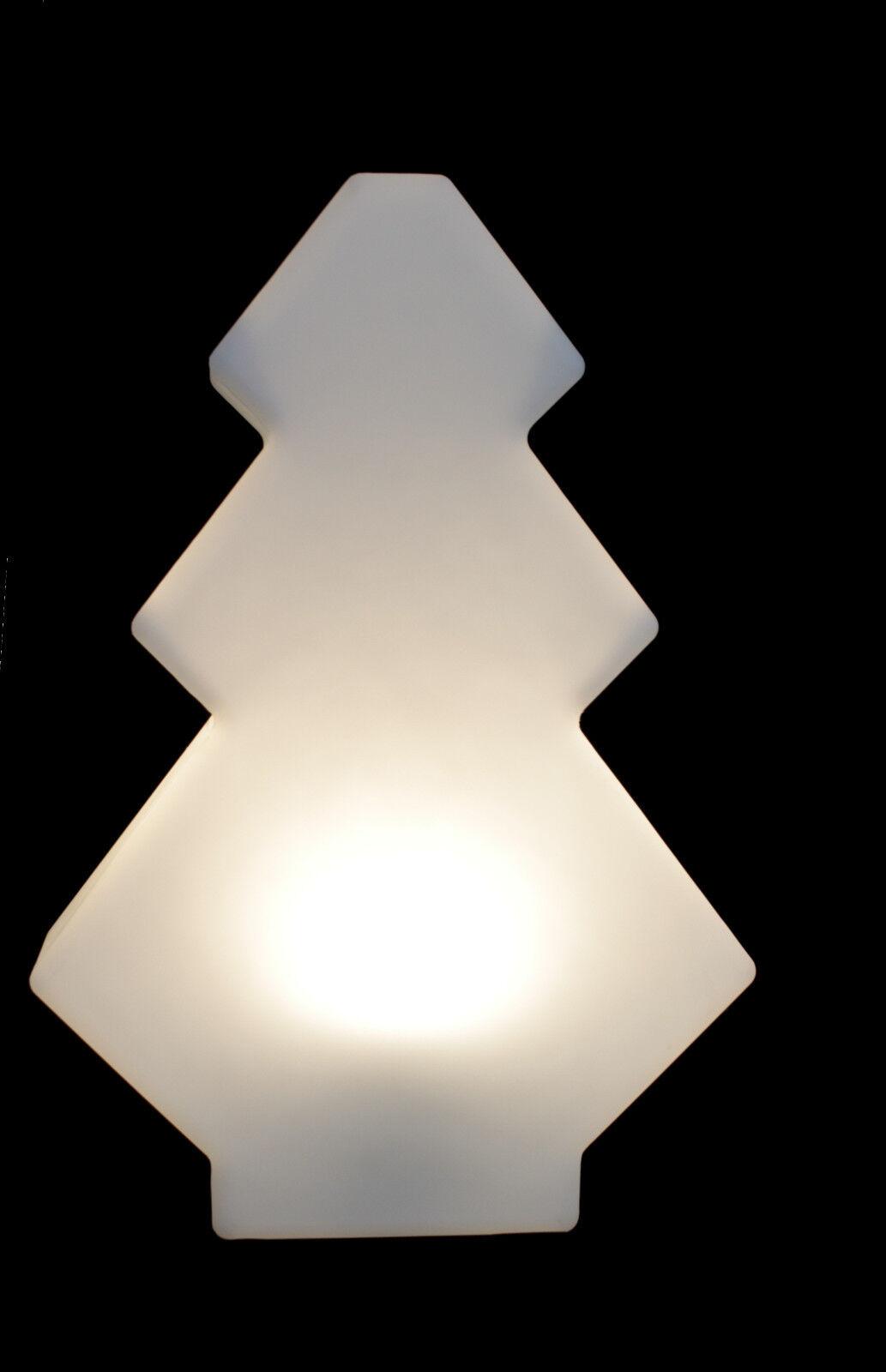Gartenleuchte Figur Tanne 60cm Weiß inkl. 5m Kabel LED wahlWeiße TG7233