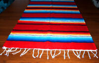 Serape Table Runner Table Topper 2x5' Southwestern Fiesta Lightweight Red