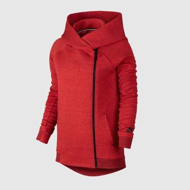 6d304f6a8329 Nike Tech Fleece Full Zip Hooded Cape Light Crimson  Black Size Women s  Large