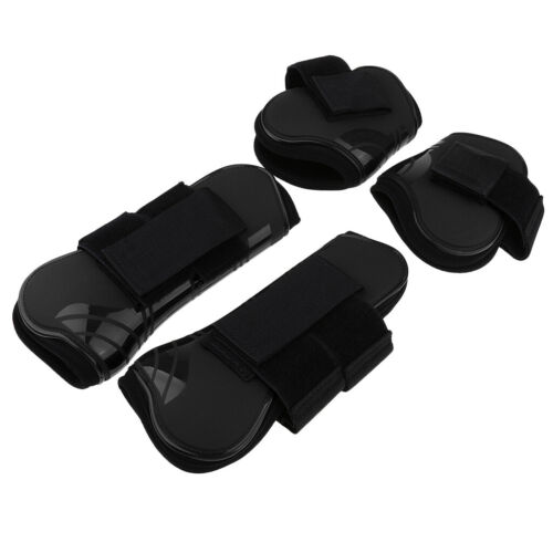 Horse Leg Boots Set of 4 Open Front Fetlock and Tendon Boots for Horses Pony