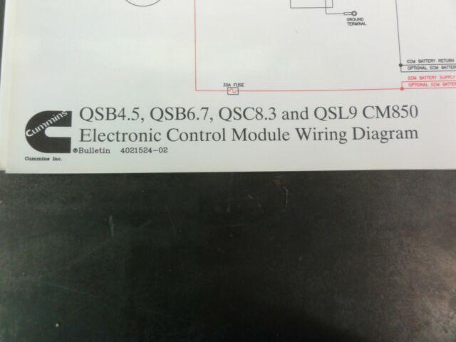 Cummins Qsb4 5 Qsb6 7 Qsc8 3 Qsl9 Cm850 Electronic Control