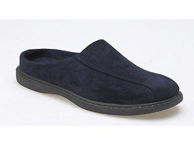 Zedzzz JARROW Mens Textile Slip On Casual Faux Suede Mule Slippers Brown//Black
