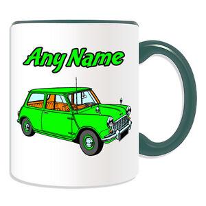 Personalised Gift Green Mini Cooper Mug Money Box Cup Driver Car BMW ...