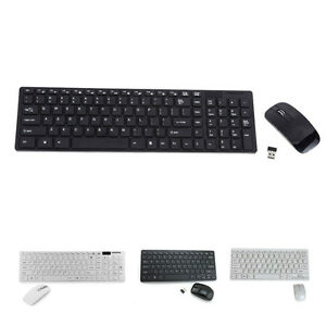 ultra thin black white wireless mini keyboard and mouse for samsung smart tv ebay. Black Bedroom Furniture Sets. Home Design Ideas