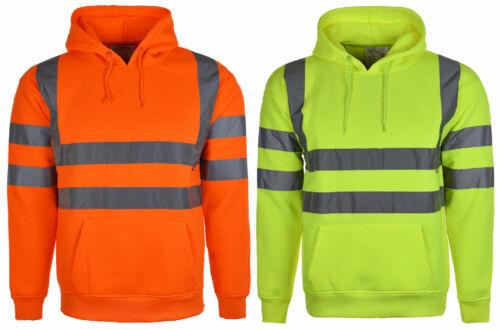 Hi Vis Alta Visibilità Felpa Con Cappuccio Maglione Felpa con Cappuccio in Pile Workwear s-3xl