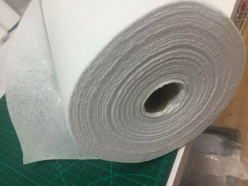 "36/"" Iron-on Fusible Interfacing poids moyen 90 cm-Large blanc 47 GSM Blanc"