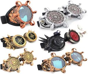 WELDING-CYBER-GOGGLES-STEAMPUNK-COSPLAY-GOTH-ANTIQUE-VICTORIAN-SPIKES-LED-LOUPE