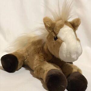 Aurora-Horse-Pony-Beige-Light-Brown-Plush-Stuffed-Animal-10-034