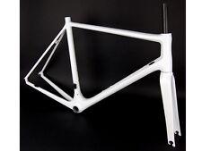 leichtbau Carbon Rennrad Rahmenkit 56cm Weiß Matt Frame White