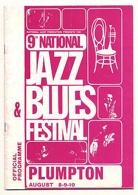 PINK FLOYD The WHO NICE 9th Jazz & Blues Festival Program Plumpton 1969