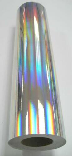 "Holographic Silver Rainbow Oil Slick Vinyl 24/"" x 30 ft"