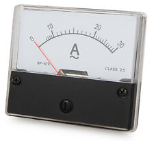 Messinstrument 0 - 30 A AC zum Einbau, Einbaumessinstrument, Analog Amperemeter