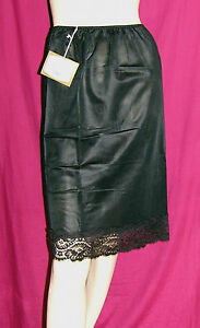 Vintage-Underskirt-Sheer-Silky-Smooth-Nylon-Waist-Slip-with-Pretty-Lace-Hem