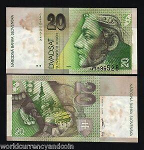 SLOVAKIA 20 KORUN P20 1999 X 10 PCS EURO PRINCE CASTLE UNC BILL MONEY NOTE LOT