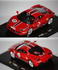 Hotwheels-Elite-Ferrari-458-Challenge-2010-rouge-1-43-X5504