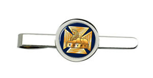 Select Gifts Wiltshire County England Flag Gold-Tone Tie Clip Engraved Personalised