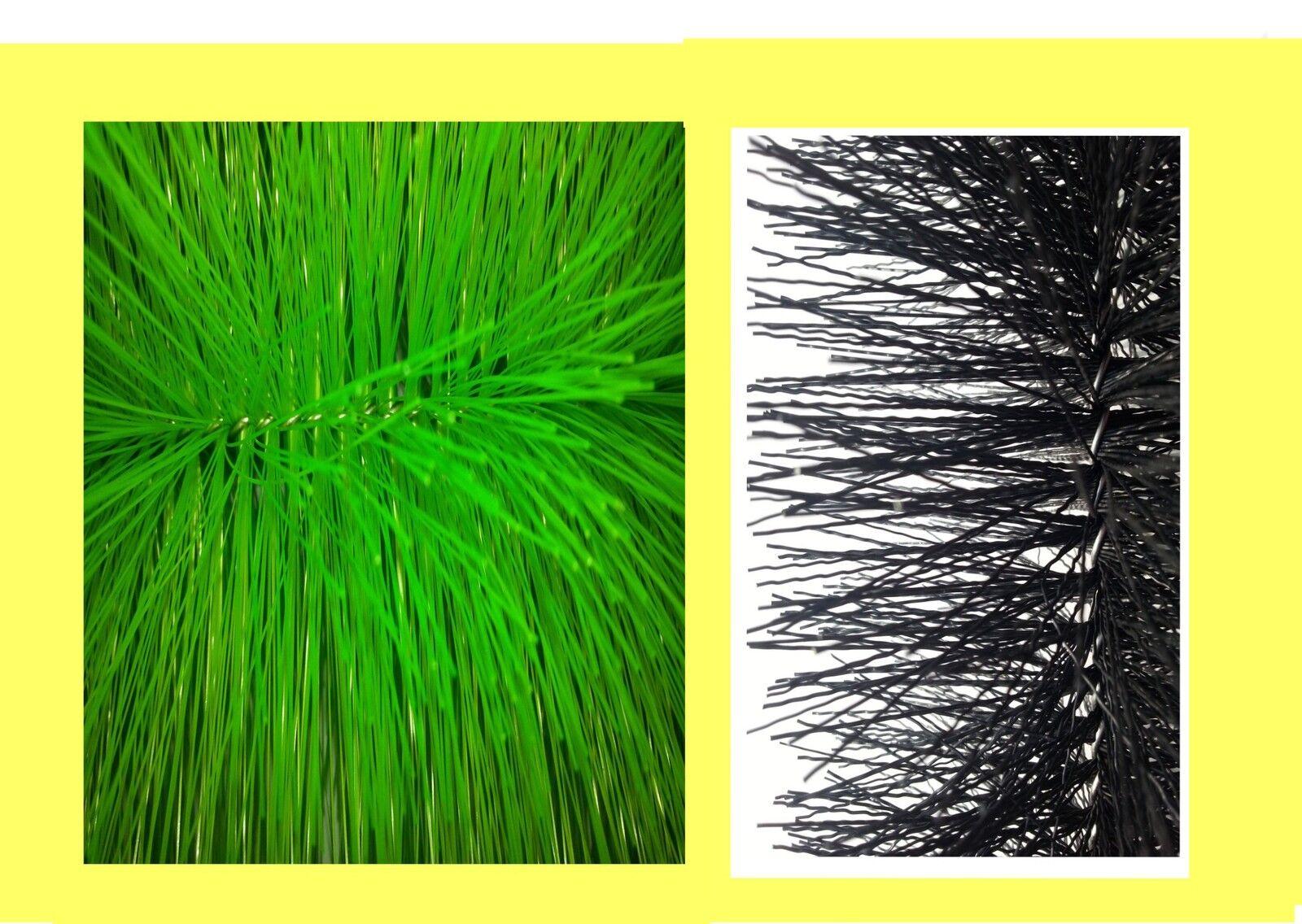 Filtro cepillos set 5 x fino y 5 x grob 60 cm de largo ø15 cm koiteich filtro de estanque