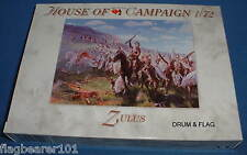 A CALL TO ARMS Set #56. ZULUS. 1/72 SCALE UNPAINTED PLASTIC FIGURES