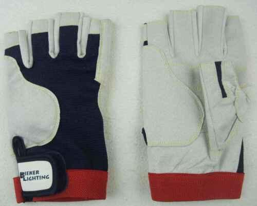 Rigger Gloves ohne Finger Handschuhe 8x BluePort Segelhandschuhe AMARA Gr M 8