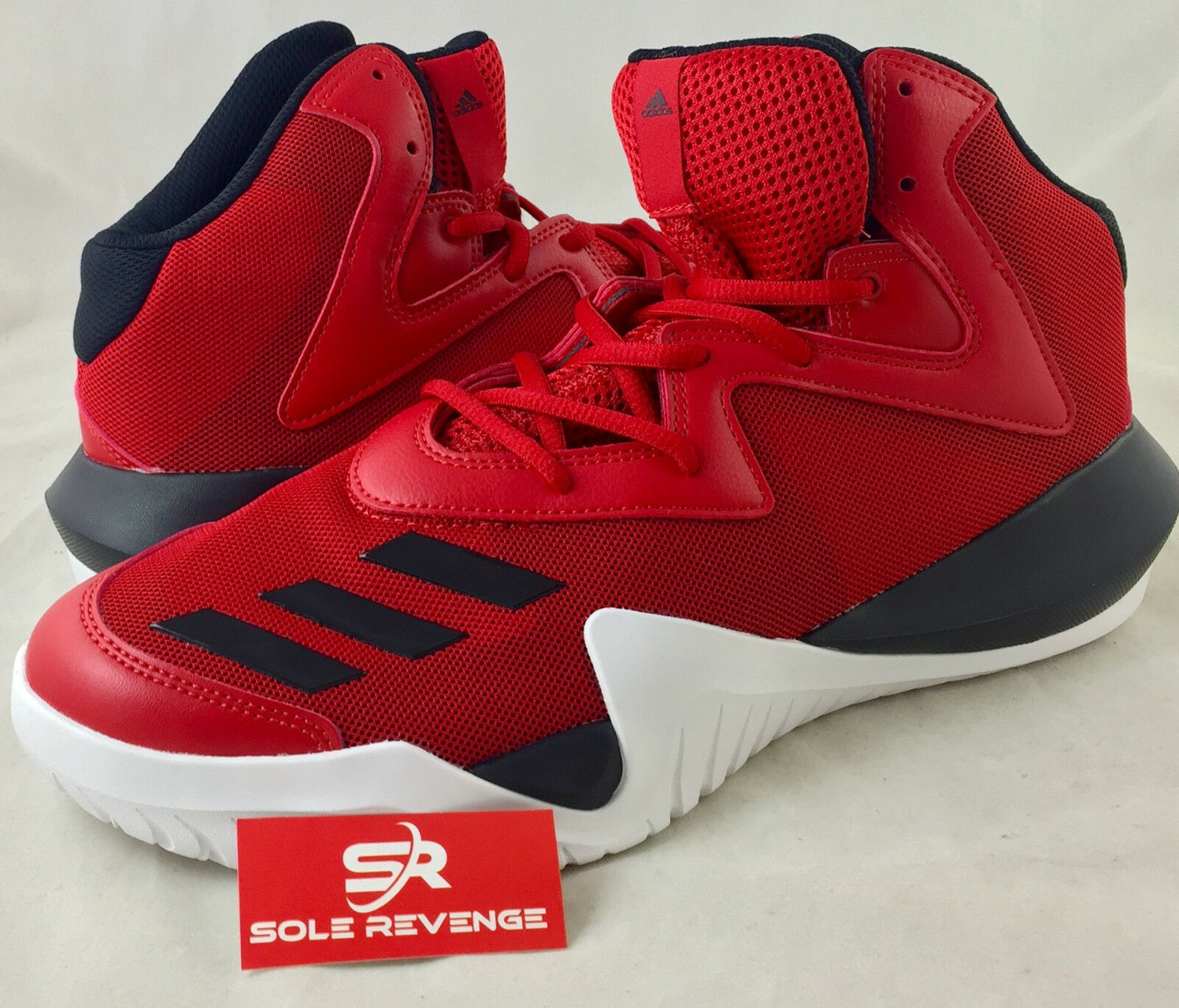 11.5 NEW! adidas CRAZY TEAM 2017 Basketball Shoes Red Red Red Black White Mens B49400 dcb29c
