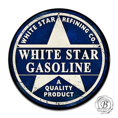 Vintage Design Sign Metal Decor Gas And