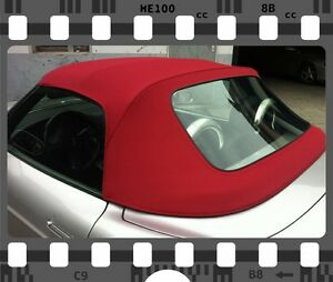 Fiat-Barchetta-Cabrio-Cabrioverdeck-Neu-Sonnenland-stoff-in-Rot-TOP-QUALITAT