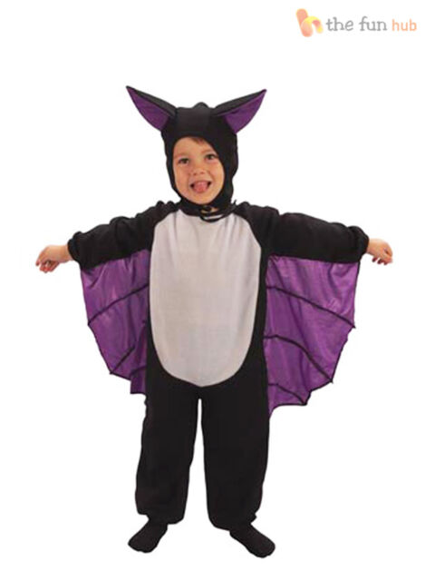 Age 2-3 Toddler Bat Halloween Fancy Dress Costume Boys Girls Kids Children Party