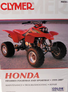 new honda trx 400ex fourtrax service repair manual ebay rh ebay com 2015 Honda 400Ex 2008 Honda 400Ex