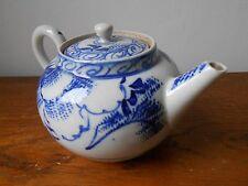 Ancien pot thé Chine.Théière. Chinese antique export porcelain blue/white teapot