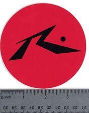 """ROSSIGNOL SKIS 4"""" ROUND RED & BLACK STICKER Rossignol Skiing Decal Vintage"""